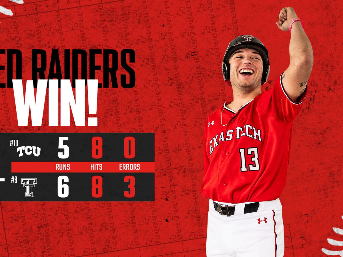 TTU baseball bounces back with 6-5 win over TCU