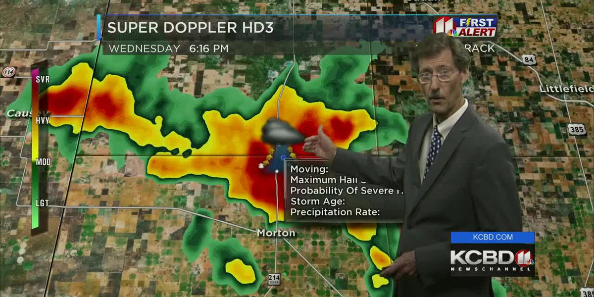 Severe Thunderstorm Warnings for parts of viewing area Wednesday night