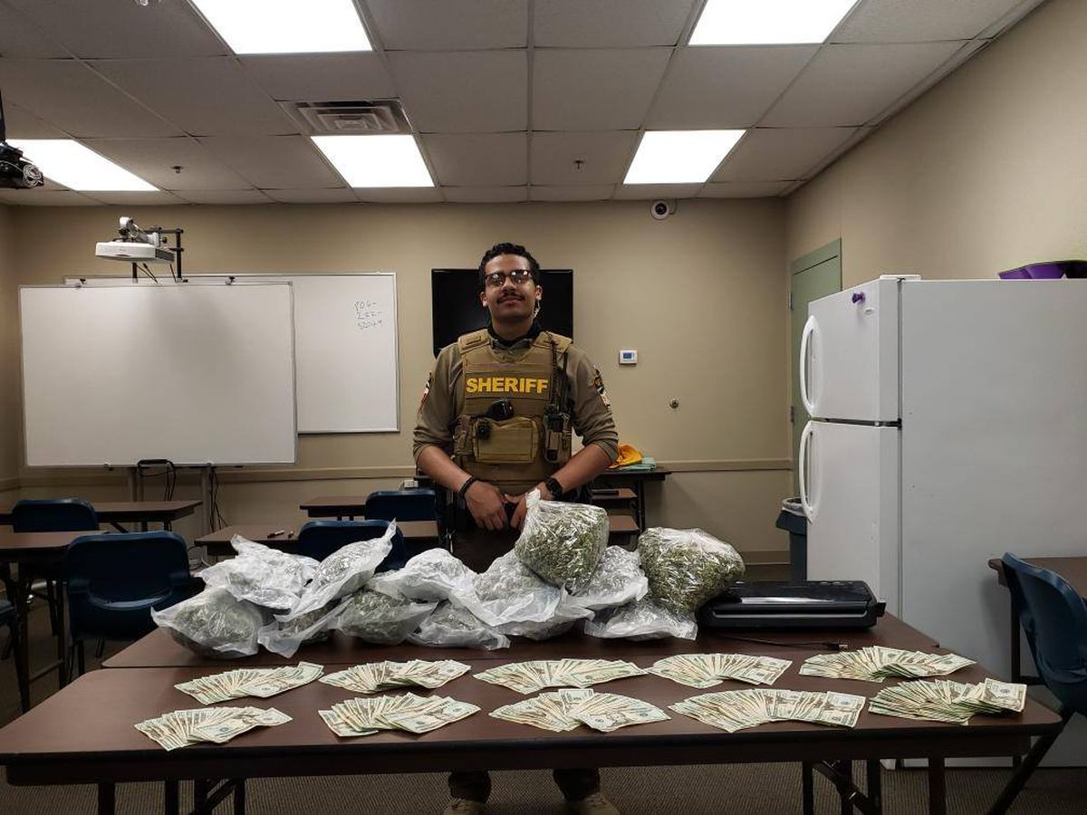 Garza County Sheriff's Deputy arrests 4 people after seizing 13lbs of marijuana and $5,000