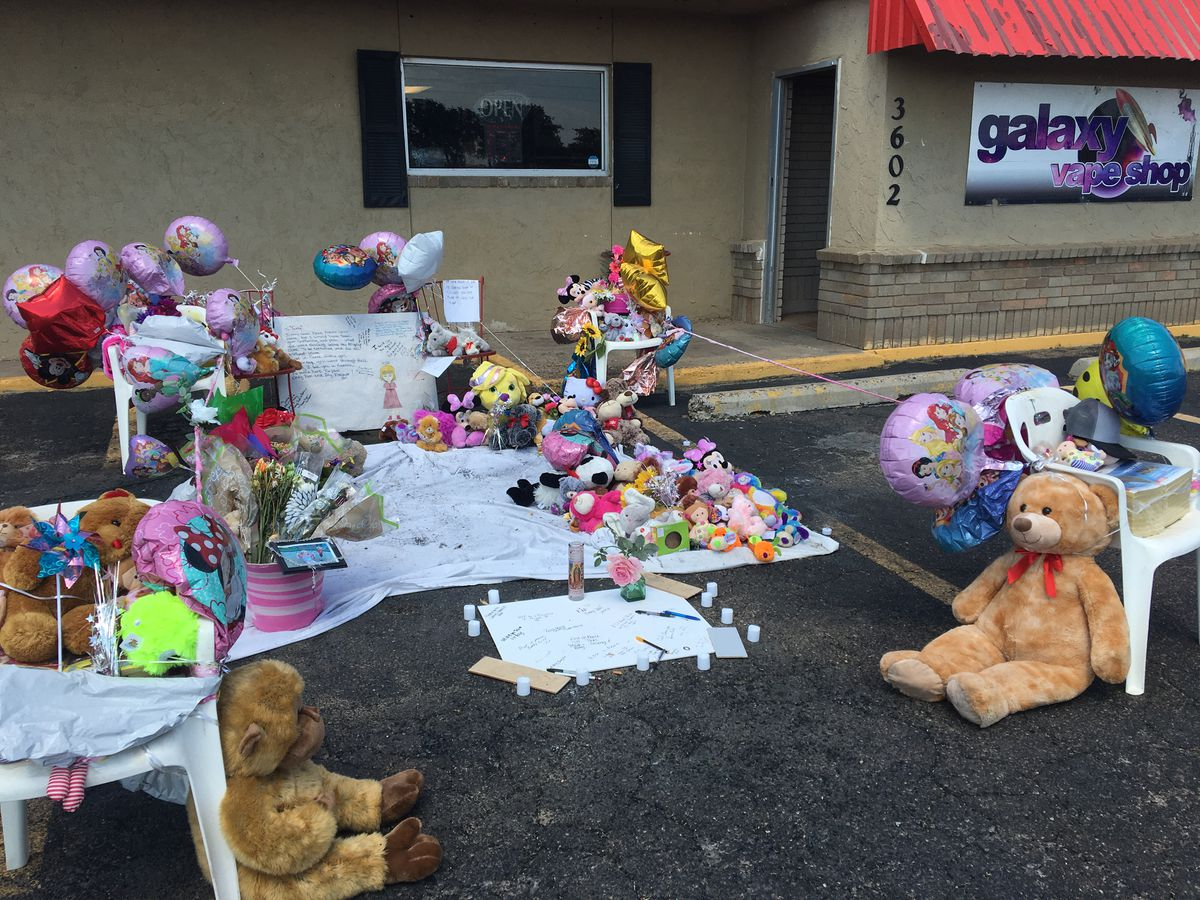 Memorial set up at site where toddler was killed in Plainview car fire
