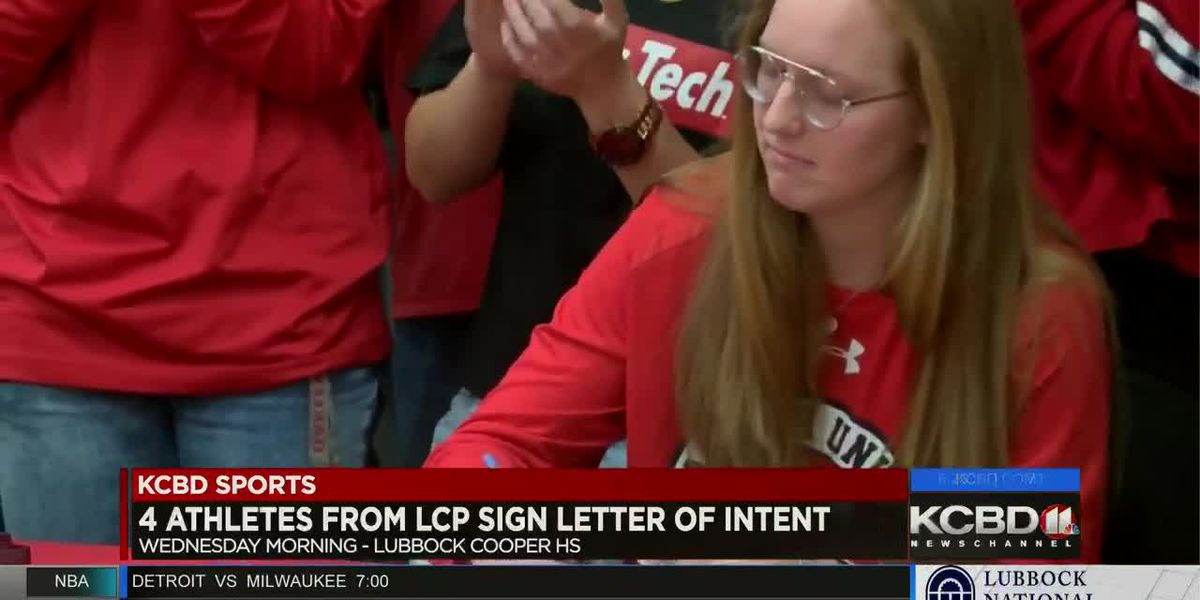 Four Lubbock Cooper athletes sign letters of intent