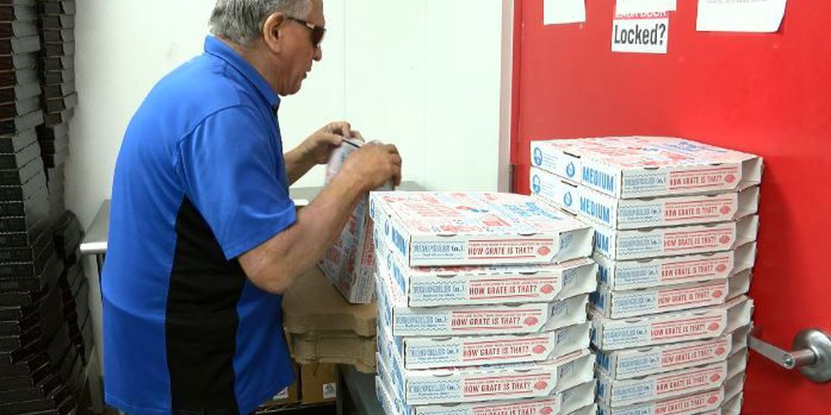 Lubbock Domino's worker loves his job, folding 3,000 pizza boxes a day