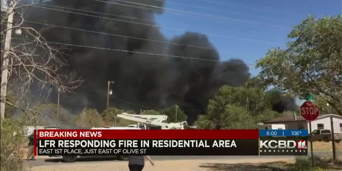5 houses affected by East Lubbock fire