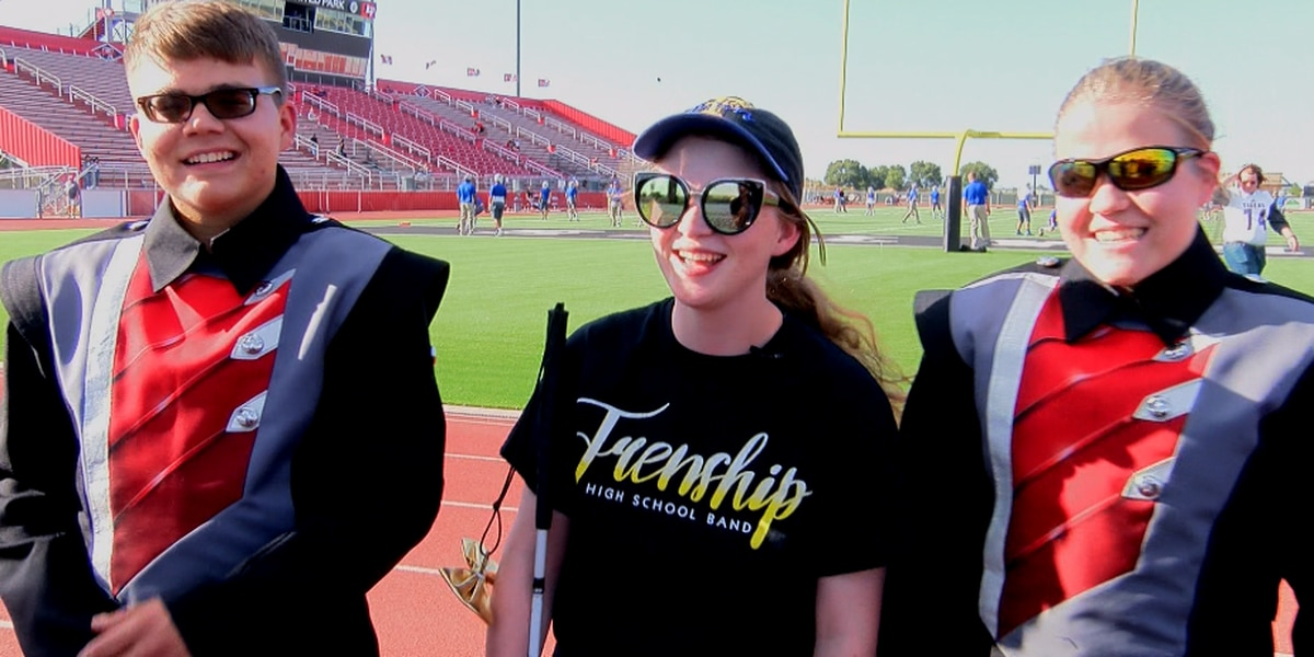 Legally blind students perform during the Lubbock-Cooper vs. Frenship game