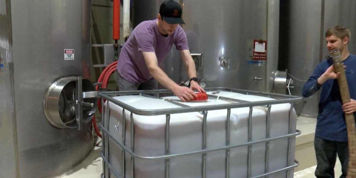 English Newsom Cellars donates 1,000 gallons of wine to be distilled to hand sanitizer