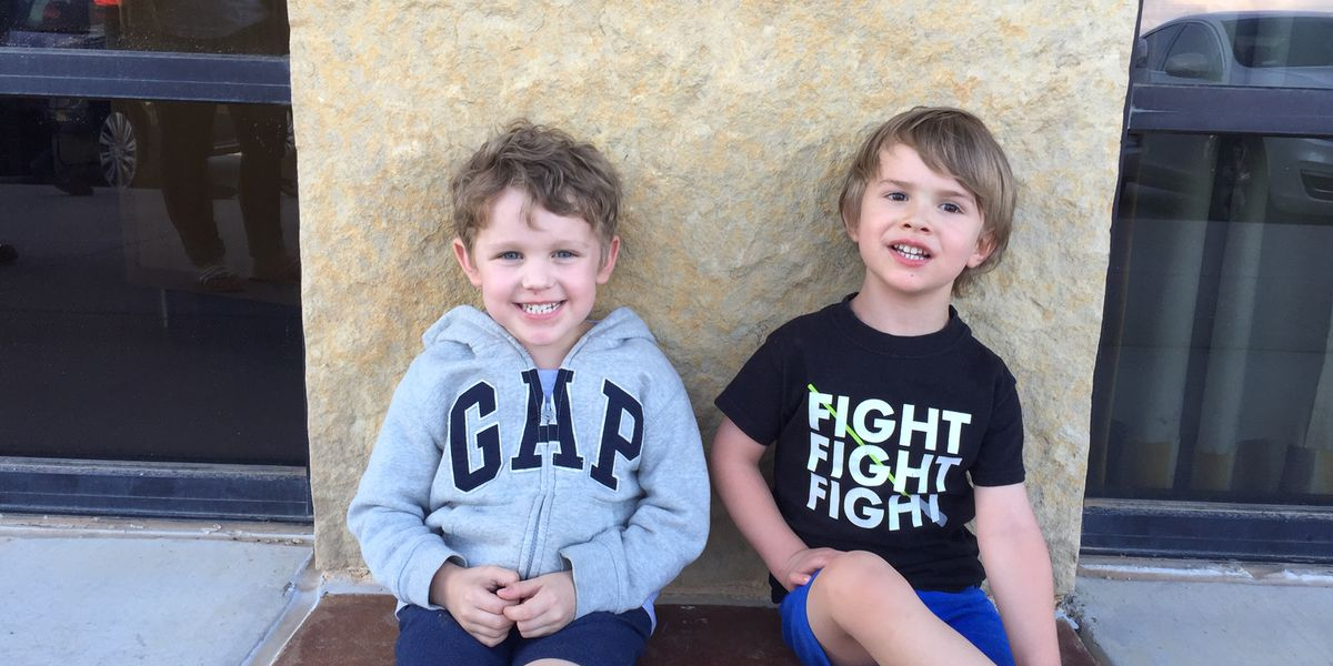 Two young friends meet again at Lubbock Pediatric Cancer Walk