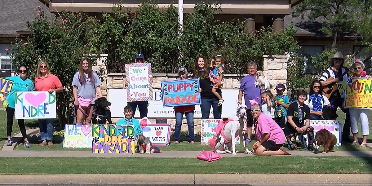 Lubbock dog parade brings smiles to residents in nursing, rehabilitation facilities