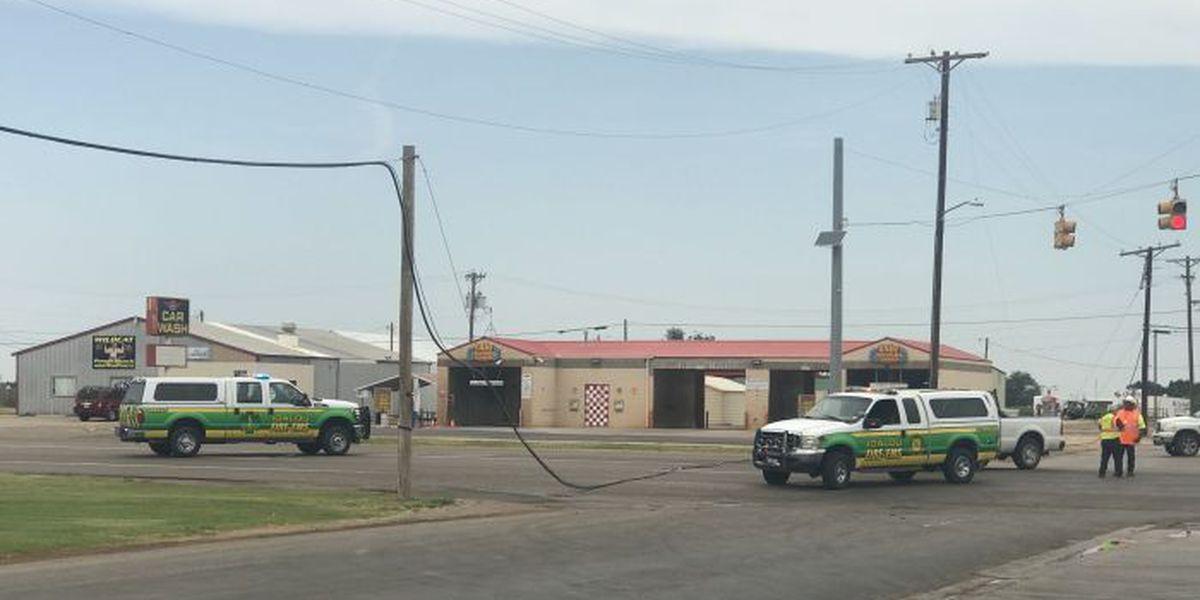 Xcel repairing downed power line in Idalou
