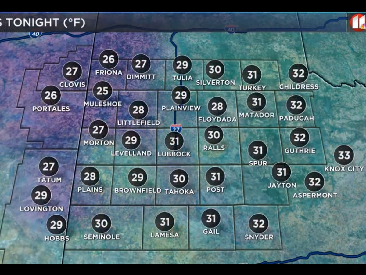More unusual cold for late April