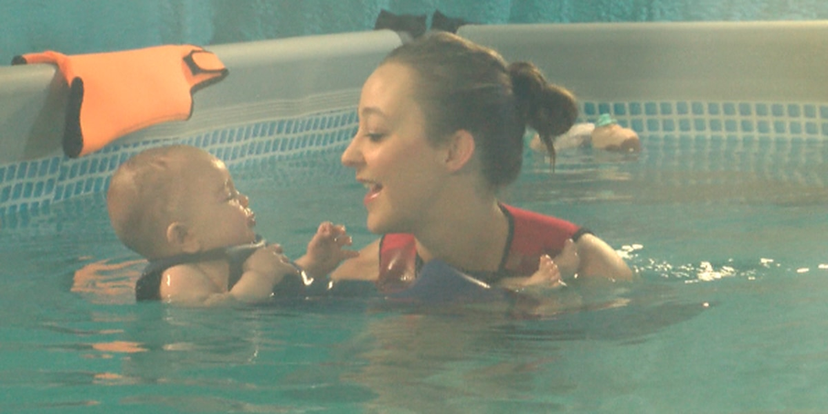 Swimming teacher wants to 'waterproof' kids as young as 6 months