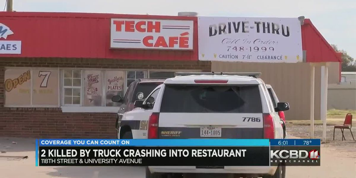 2 killed as truck crashes into Tech Cafe