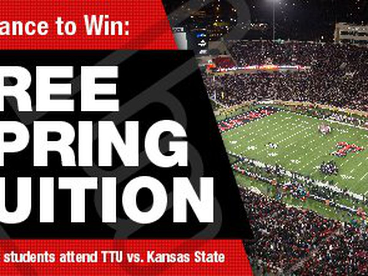 TTU students have chance to win free spring tuition if 10,000 show up for TTU vs. Kansas State