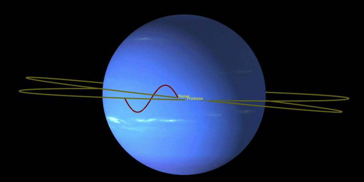 You should see Neptune's moon dance