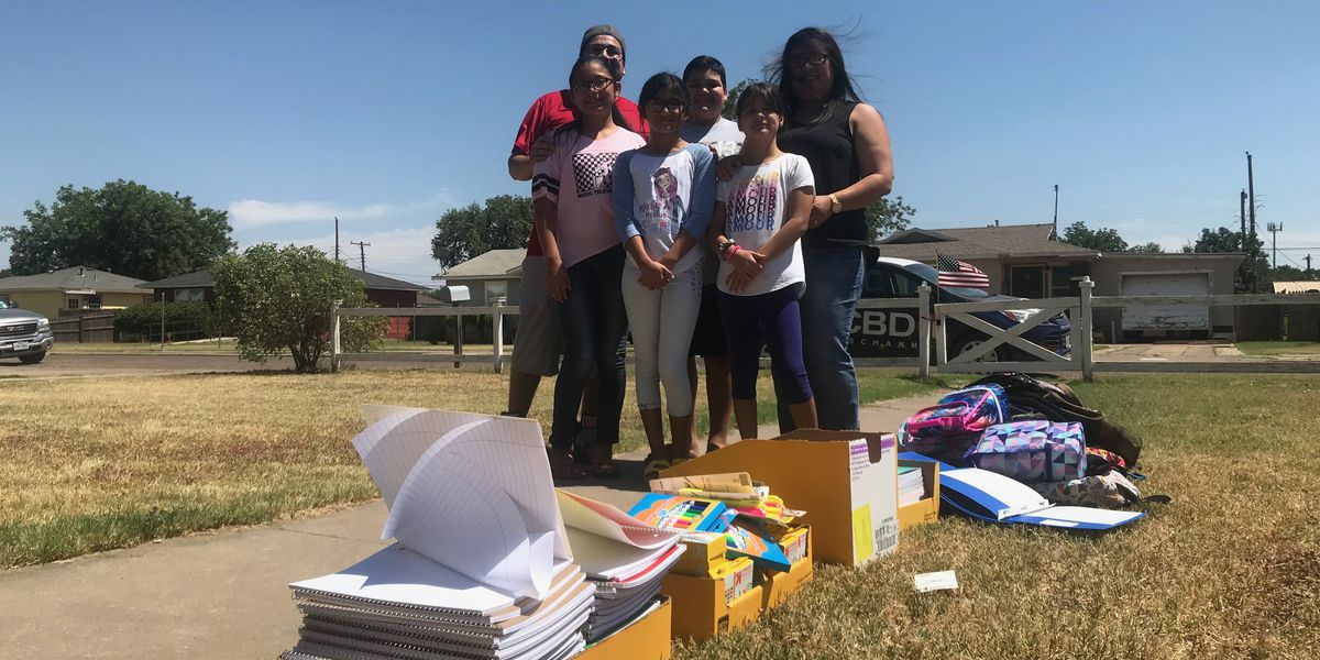 Lubbock family gathering school supplies for public donation Saturday, Aug. 3