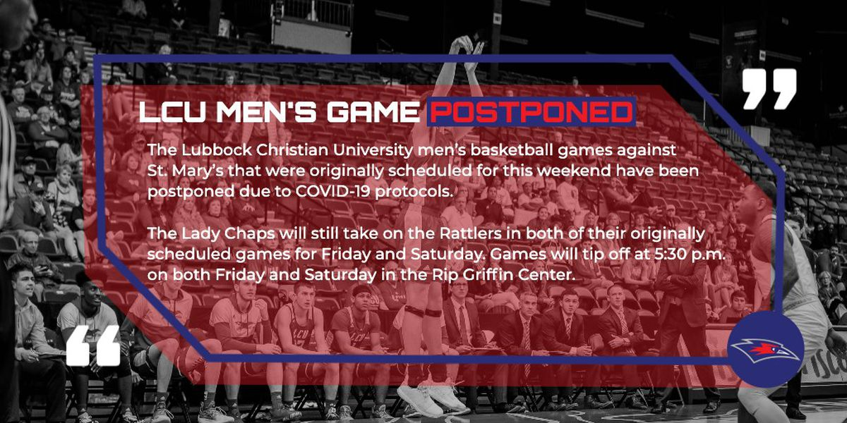 LCU postpones men's basketball games with St. Mary's due to COVID-19 protocols