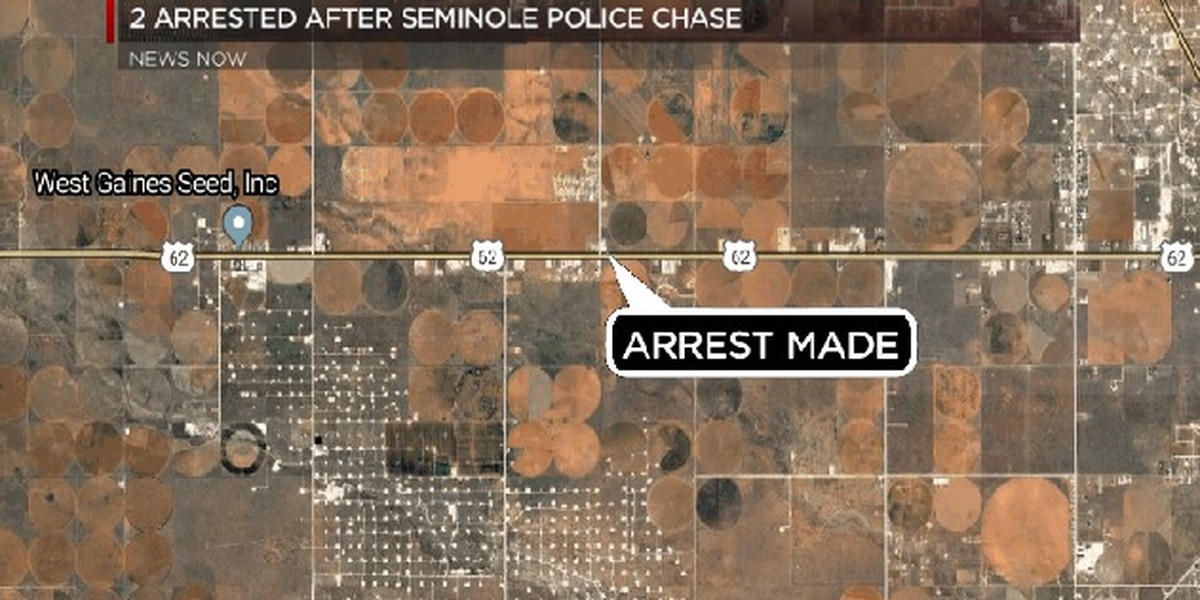 2 arrested after police chase west of Seminole