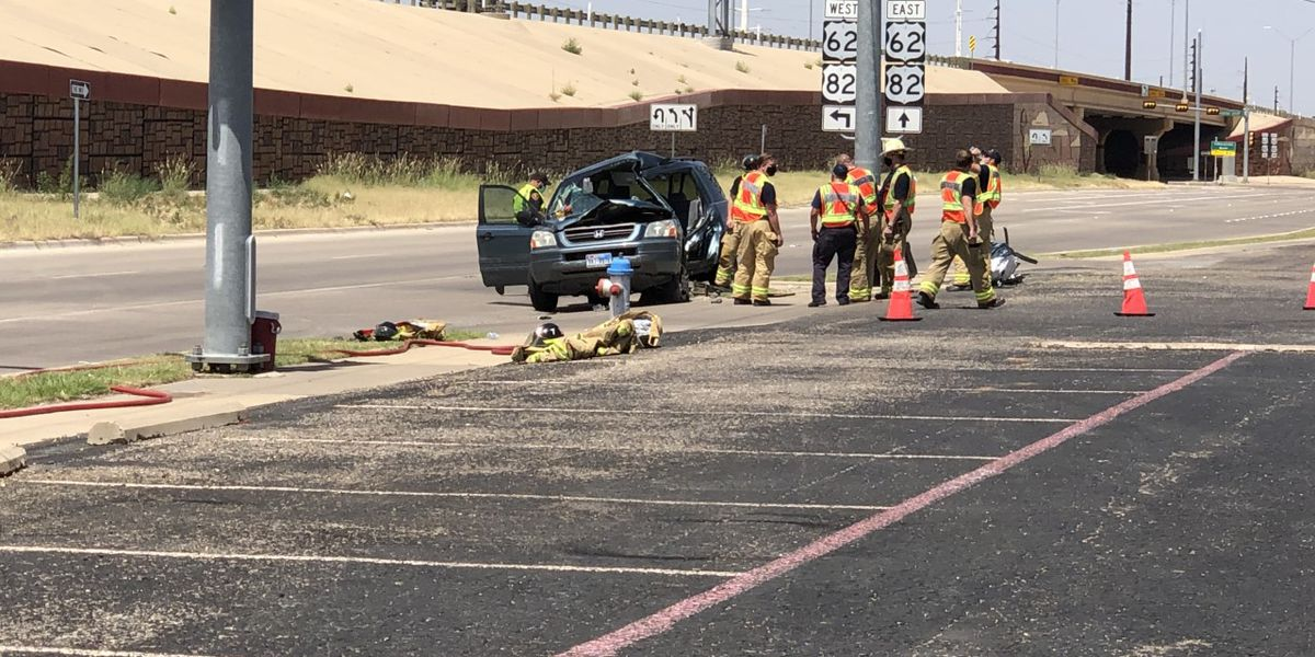 One seriously injured in crash at Marsha Sharp Freeway and 34th Street