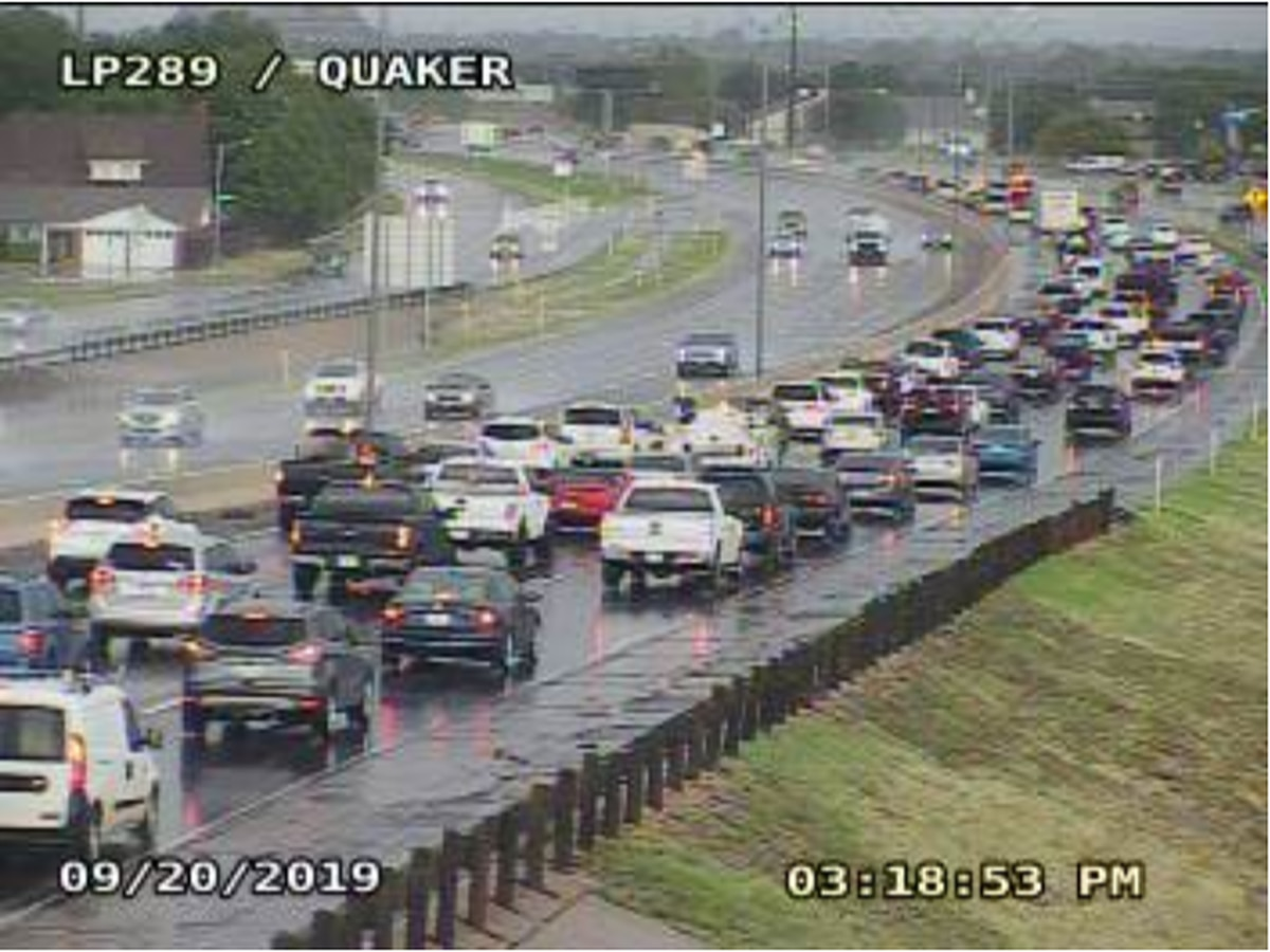 Motorcycle crash on South Loop 289 near Quaker leaves one with moderate injuries