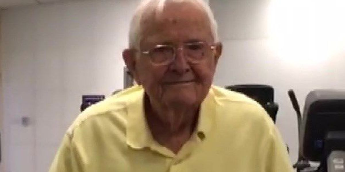 World War II pilot celebrates birthday on the treadmill
