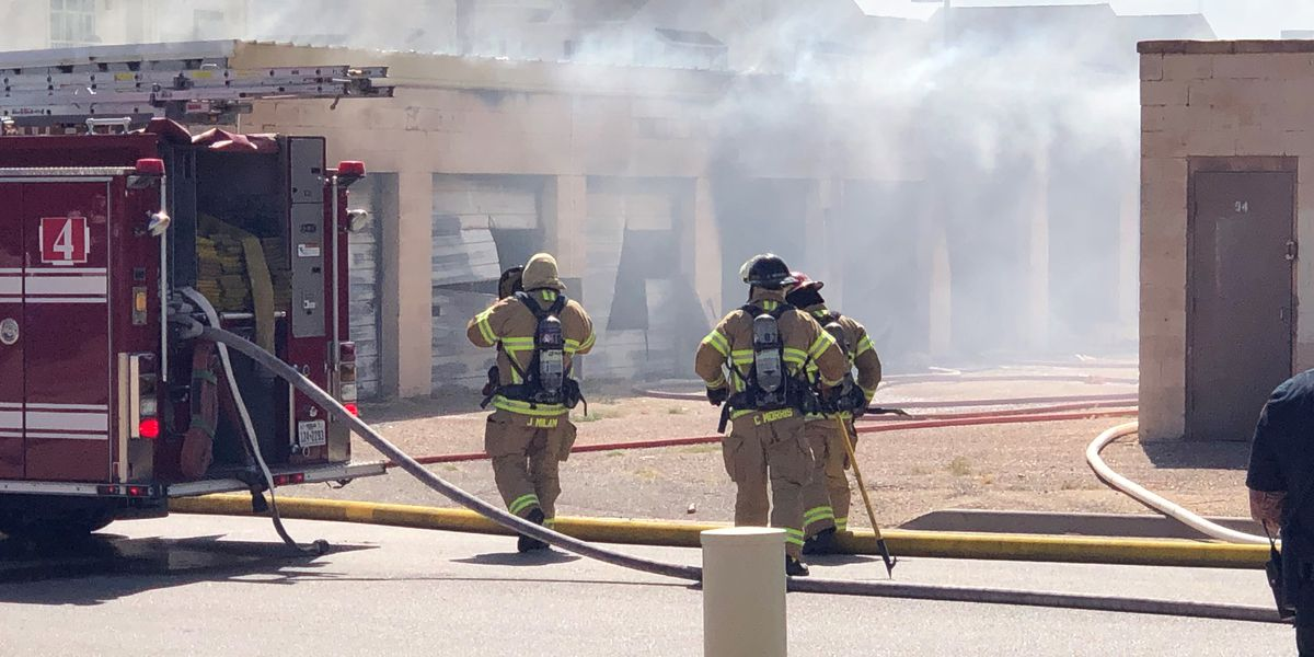 Multiple units destroyed by fire at University Self Storage