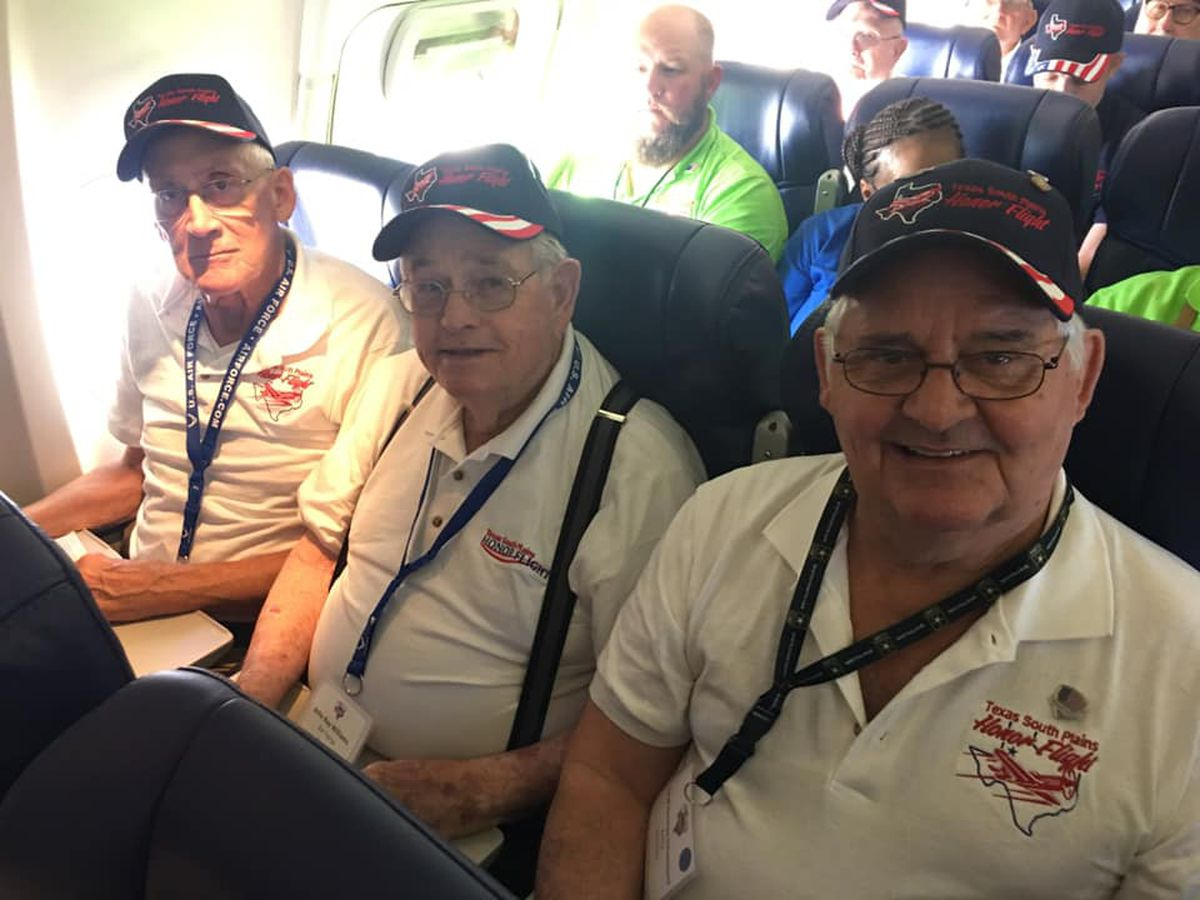 South Plains Honor Flight arrives in DC