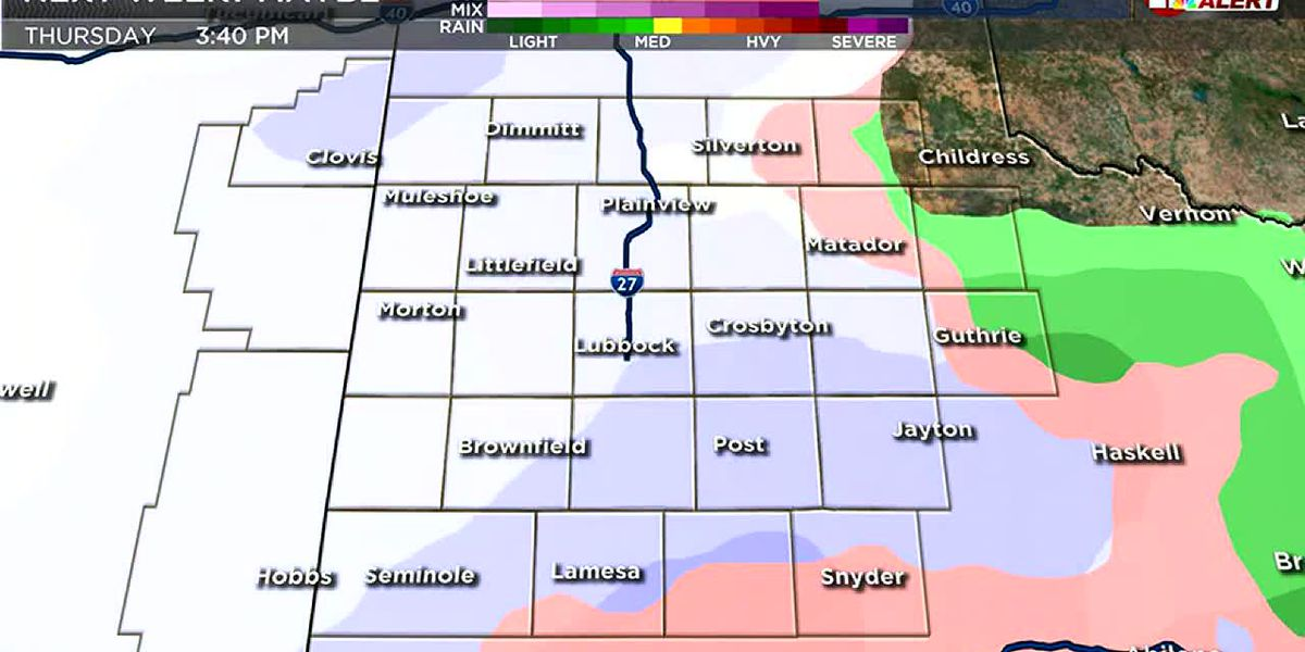 Mid-morning winter weather update
