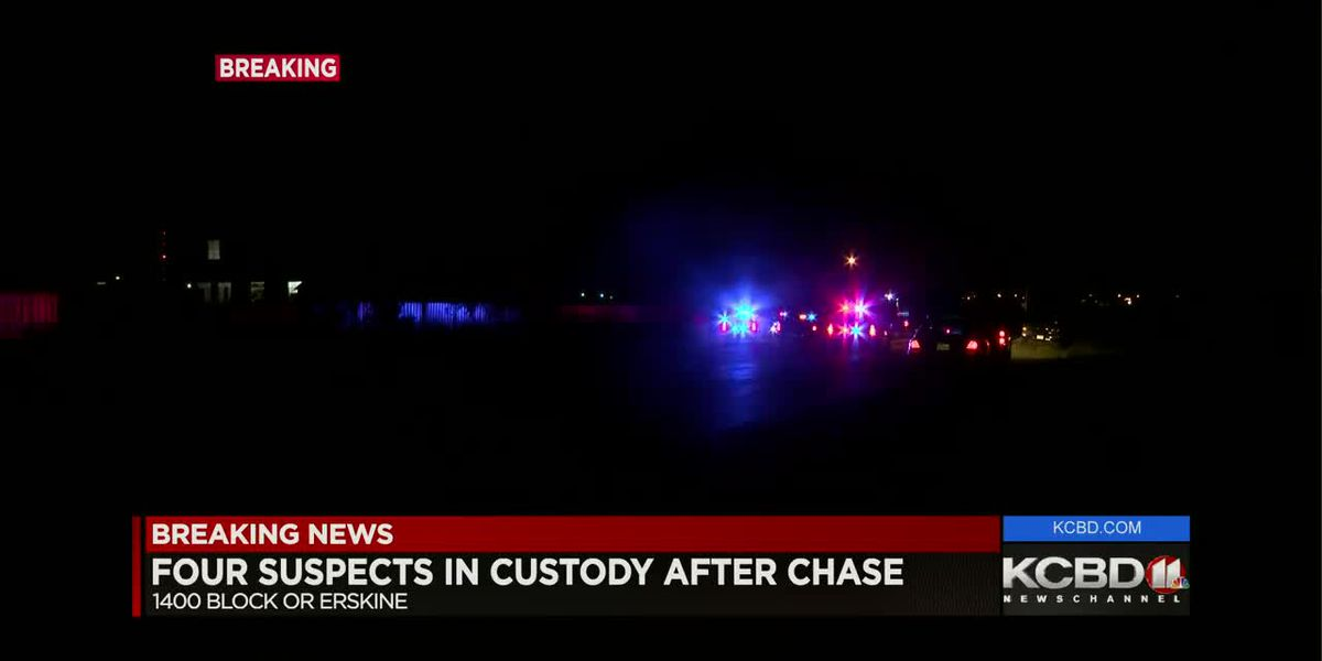 Four suspected in home invasion in custody after chase