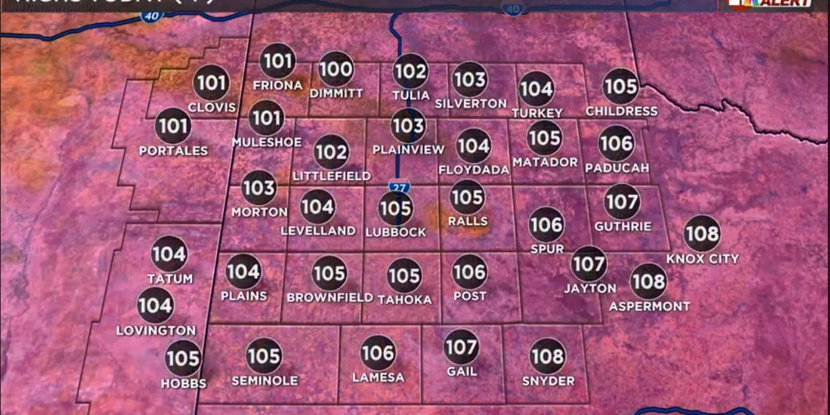 Record heat today, some relief this weekend