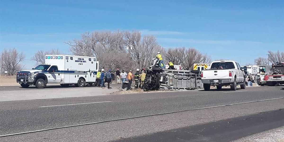Hwy. 87 closed due to crash with rollover, 2 transported by AeroCare identified