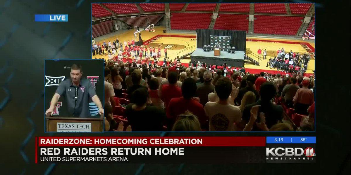 WATCH: Red Raiders basketball team return to Hub City