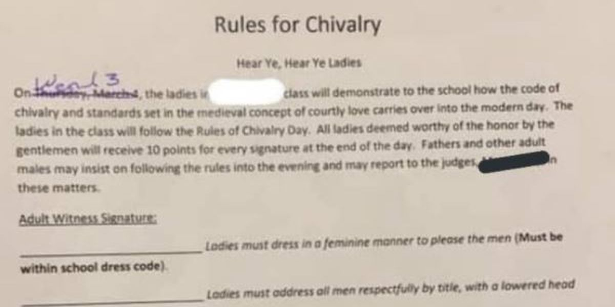 Sexist school assignment removed by Shallowater ISD after complaints from parents
