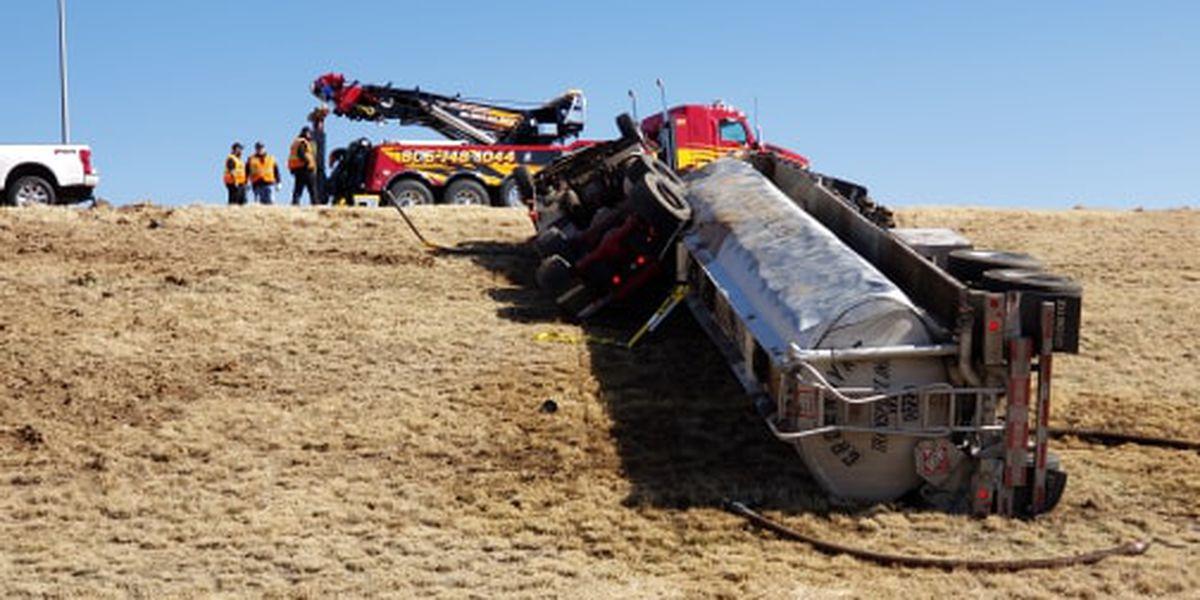 South Plains HAZMAT Team responds to overturned tanker north of Plainview
