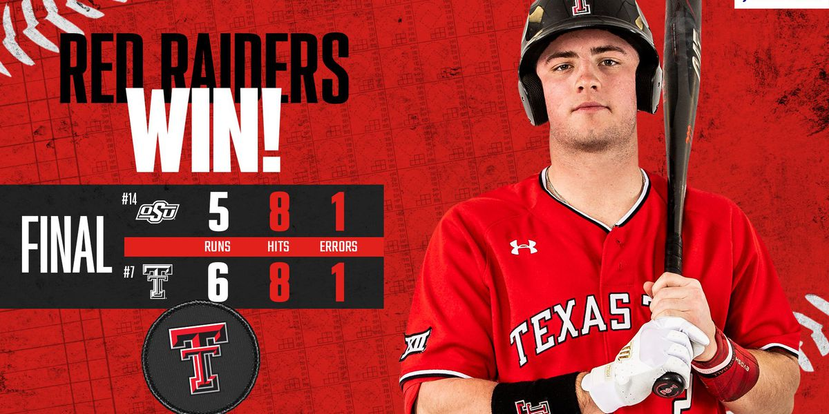 Red Raider baseball gets conference win 6-5 against Oklahoma State