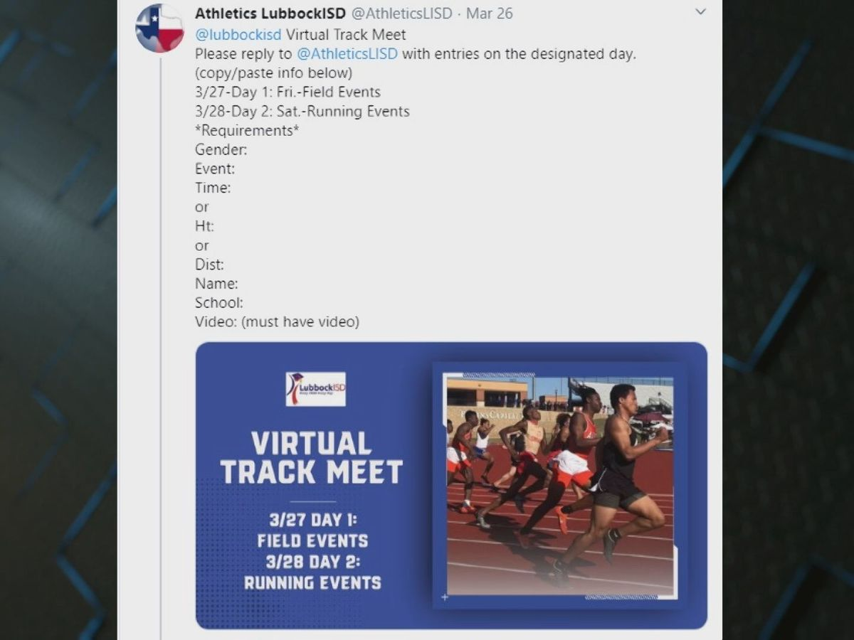 Lubbock ISD Athletics holds virtual track meet on Twitter