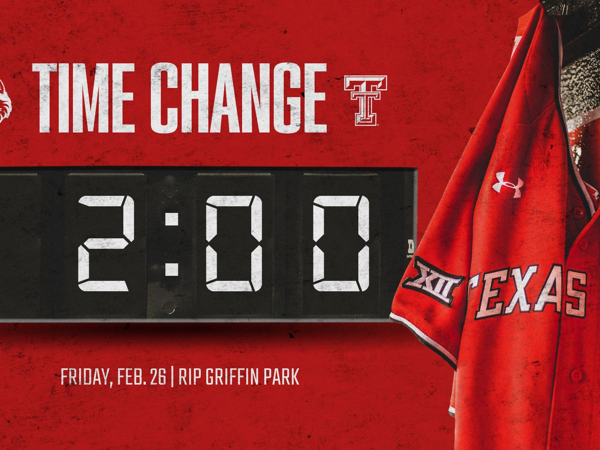 TTU BASEBALL: Friday's Home Opener vs. HBU Moved to 2 p.m.
