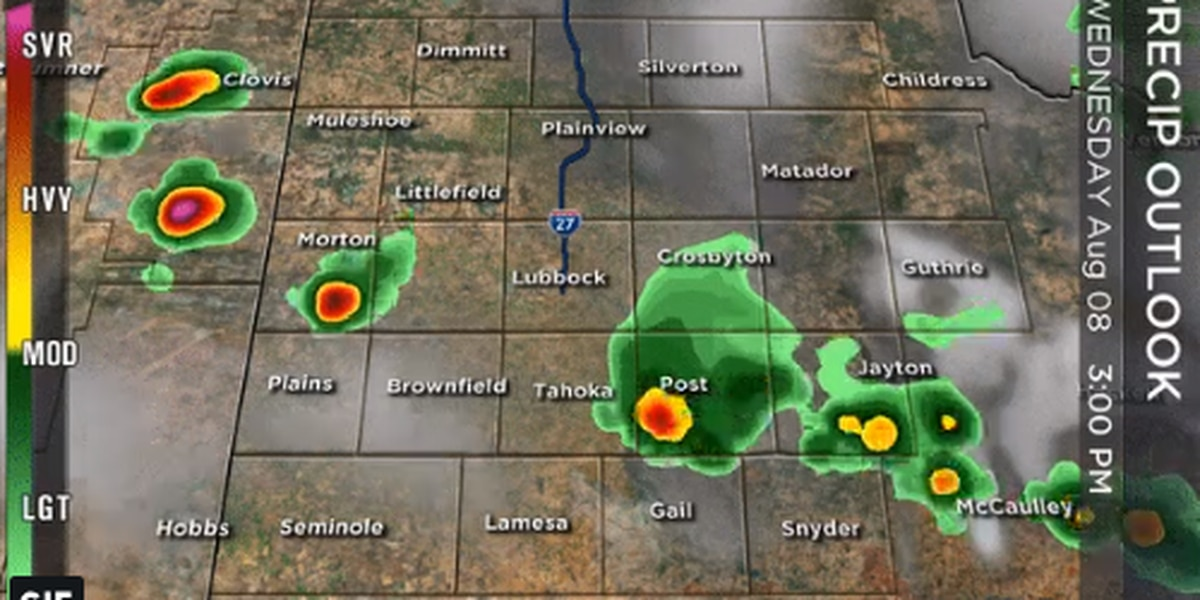 Strong isolated storms expected Wednesday, more rain possible throughout week