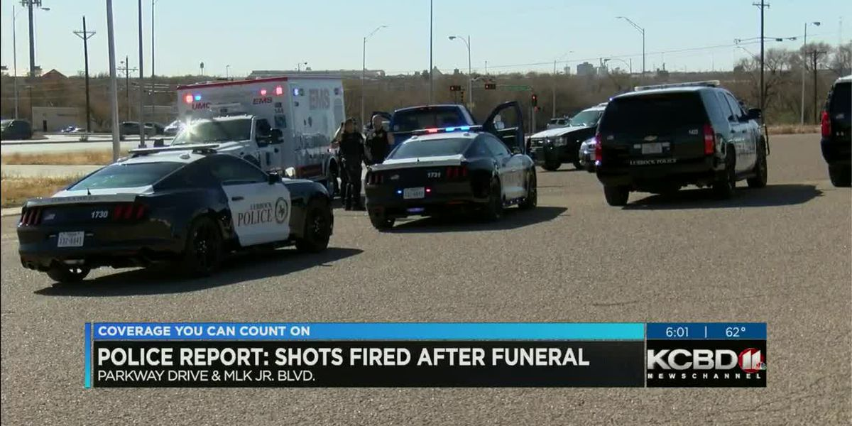 Shots fired after funeral