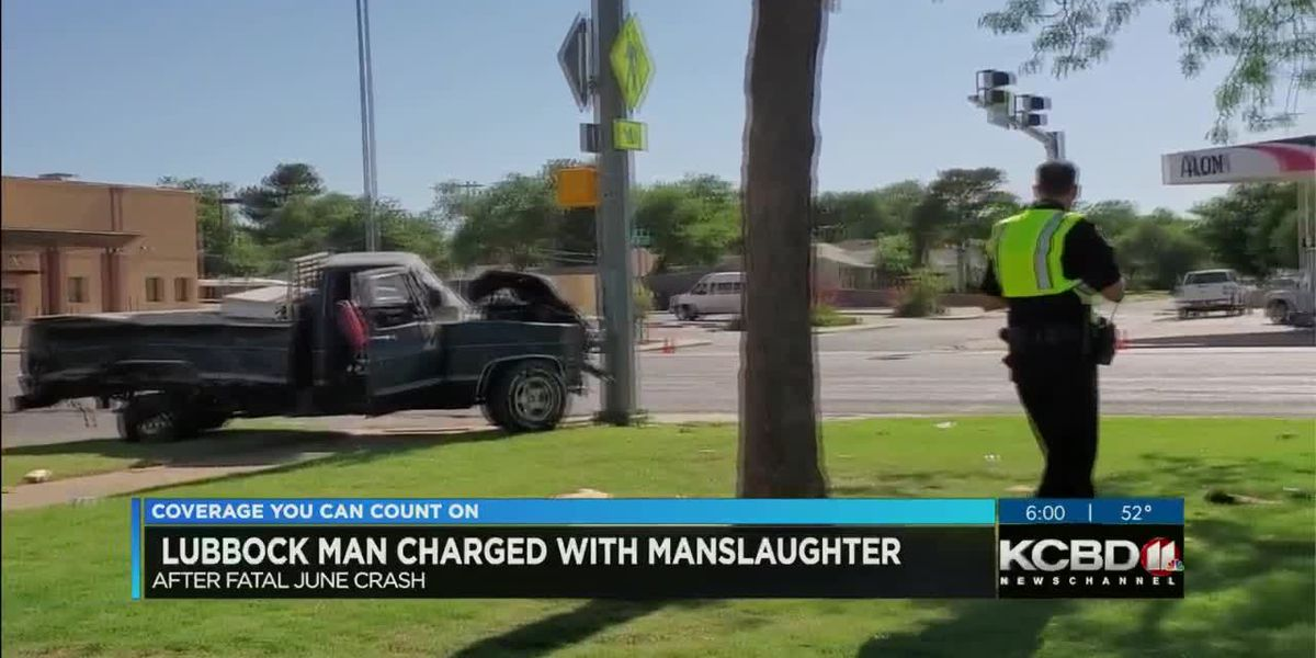 Lubbock man charged with manslaughter after June wreck