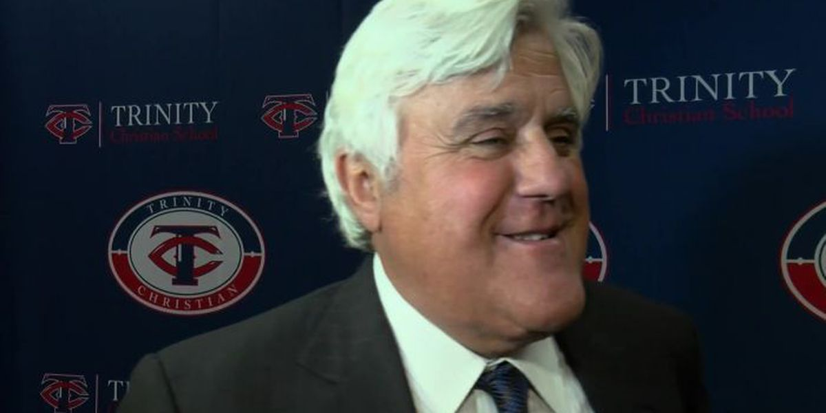 FULL INTERVIEW: Jay Leno in Lubbock, honoring 40th anniversary of Trinity Christian School