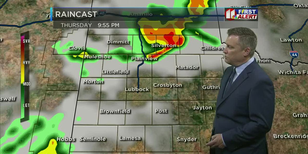 Windy and cooler, few storms possible