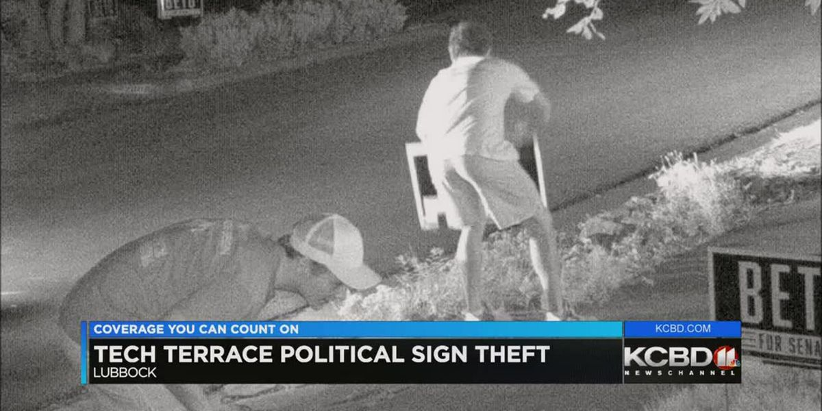 Political sign thefts in Tech Terrace