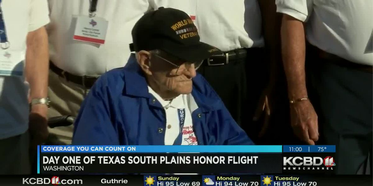 Day 1 of Texas South Plains Honor Flight