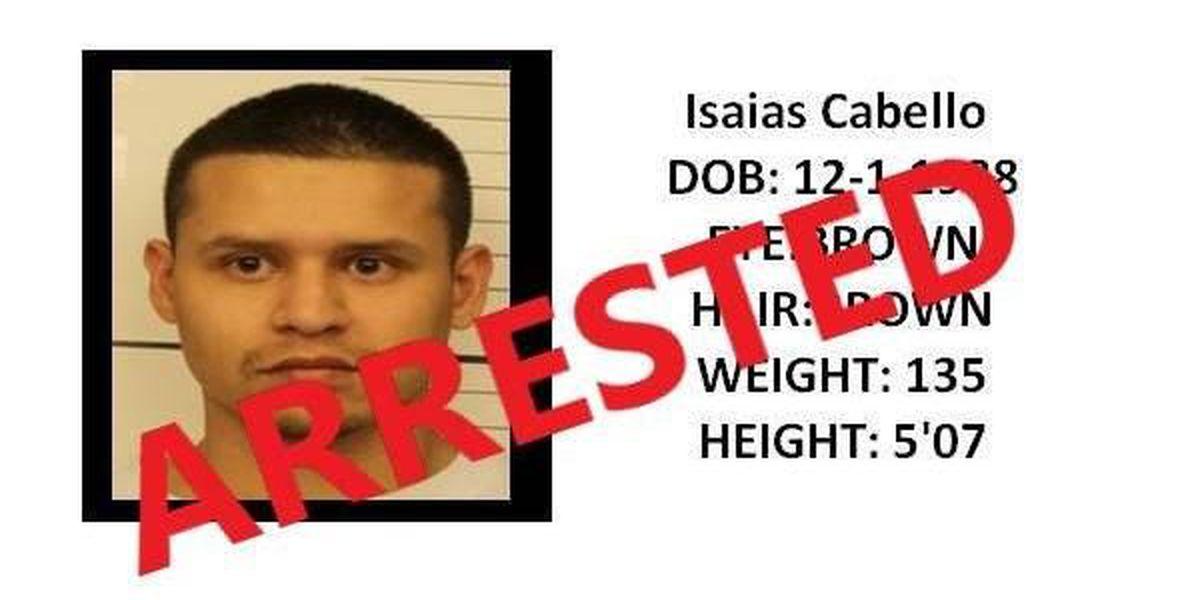 Murder suspect Isaias Cabello arrested in Colorado