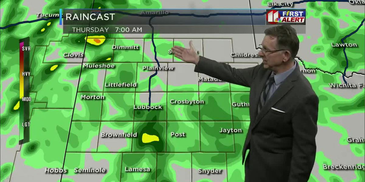 Light rain to continue through Thursday into Friday