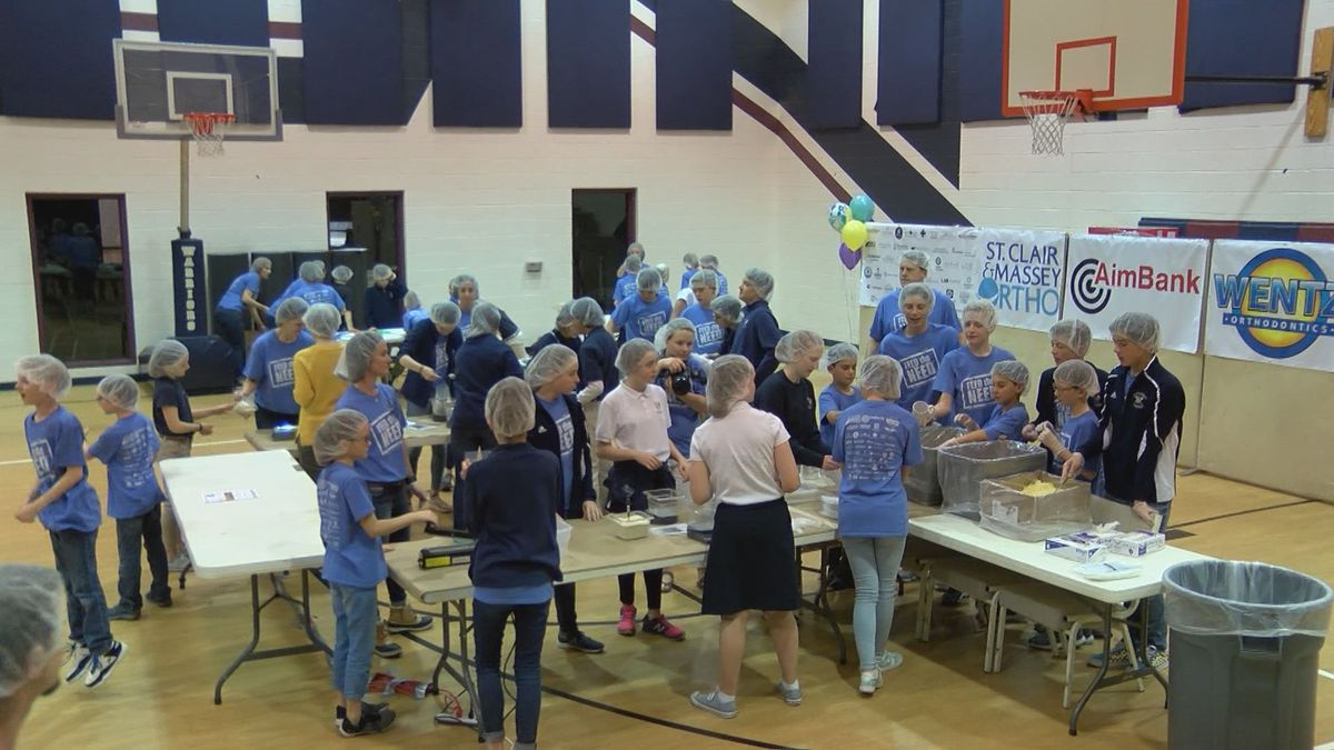Kingdom Prep students prepare, package 10,000 meals to donate