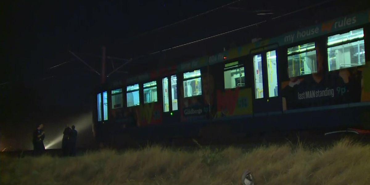 Light rail train derailment injures dozens in California