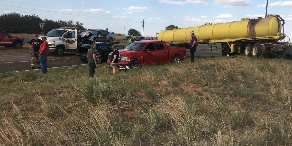 2 injured in 3-vehicle crash involving tanker near Smyer