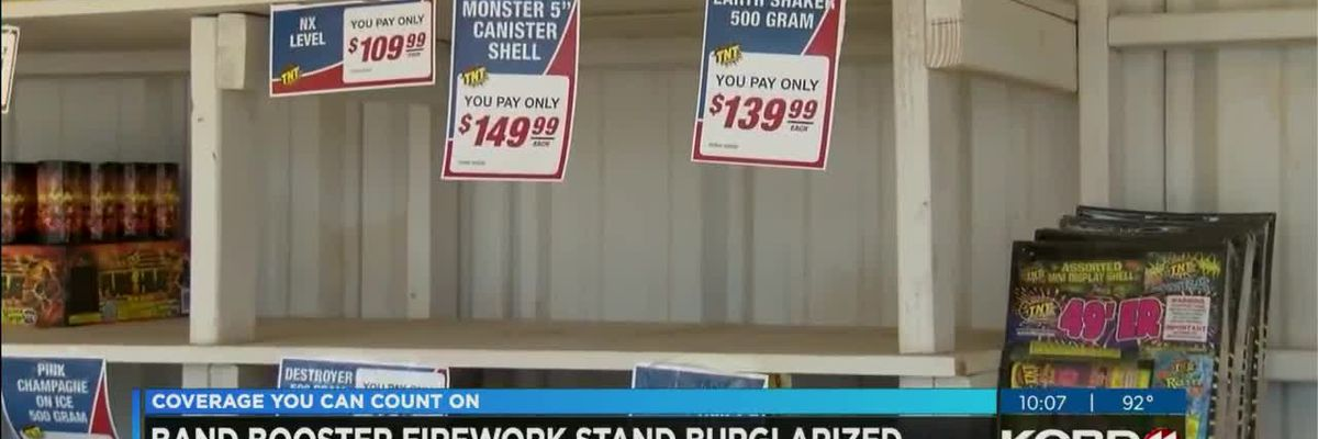 Lubbock-Cooper Band Booster fireworks stand burglarized (10 p.m.)