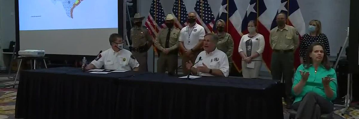 Governor Greg Abbott update on tropical storms Marco, Laura - 08/25/2020 - clipped version