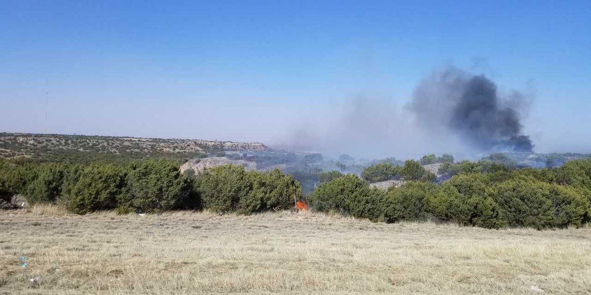 100 acres affected by fire near Post